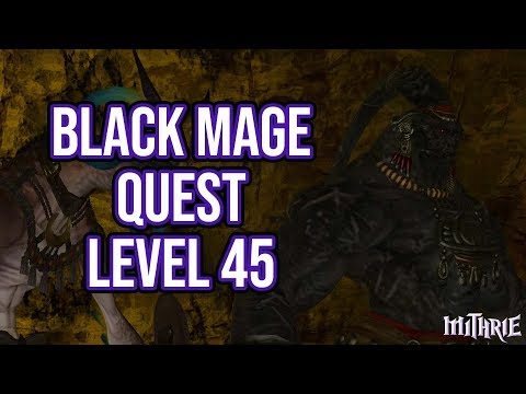 FFXIV 2.15 0212 Black Mage Quest Level 45 + Artifact Gear