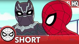 We Need Spidey & Black Panther Right MEOW! | Marvel Super Hero Adventures 'Family Friendly' | SHORT