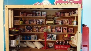 Diy: Miniature Grocery Store, Made With Cereal Box, Balsa Wood, And Food Labels