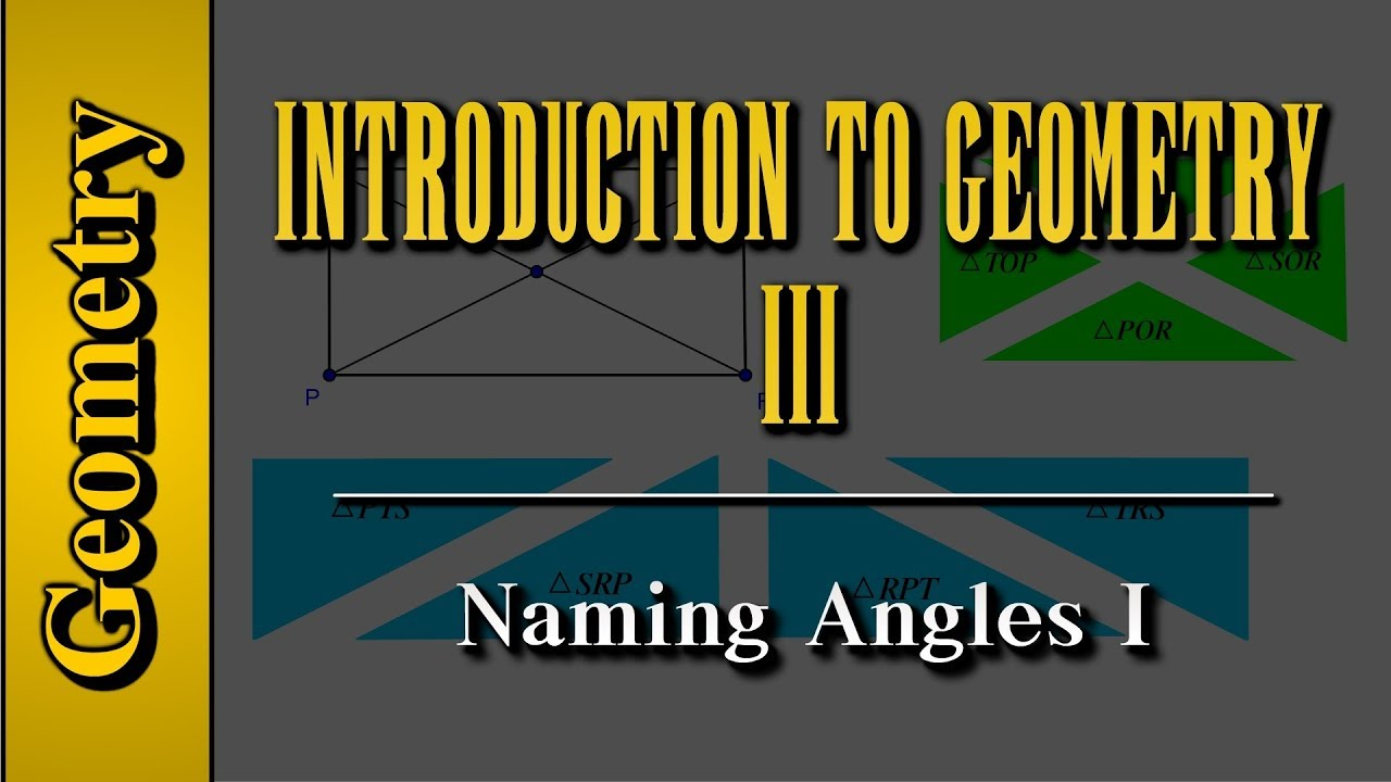 worksheet Naming Angles geometry introduction to level 3 of 7 naming angles i
