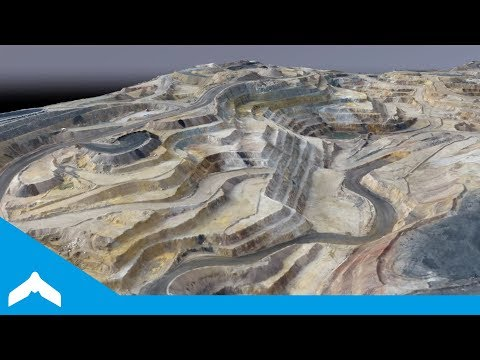 Drone Survey of a Large Open Pit Mine