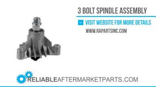 3198 143651 New AYP 3 Bolt Spindle Assembly for 44 and 50 decks