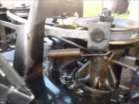 Craftsman LT 1000 -  Mower Deck Belt Replacement.wmv
