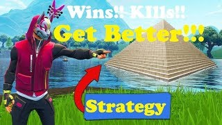 Fortnite Tips For Beginners Pyramid Strategy (Season 6, GET BETTER, GET WINS, MORE KILLS, GUIDED)