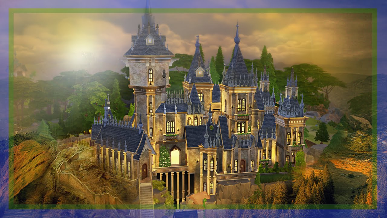 The sims 4 speed build hogwarts youtube for Build a building online free