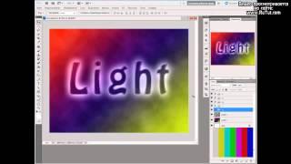 Неоновый текст в Photoshop [видео урок](, 2012-04-27T00:11:16.000Z)