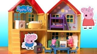 Play Doh Peppa Pig Peek n Surprise Playhouse Playset - La Grande Casa de Cerdita Peppa Nickelodeon