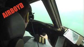 777 Cockpit Video Landing Hong Kong