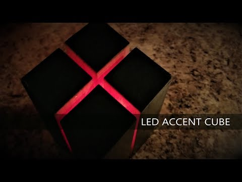 Making a Wooden LED Accent Light Cube From a Single Piece of Wood