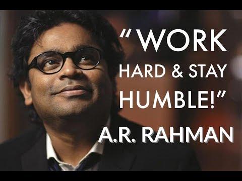 Most Inspiring Life Advice From AR Rahman...