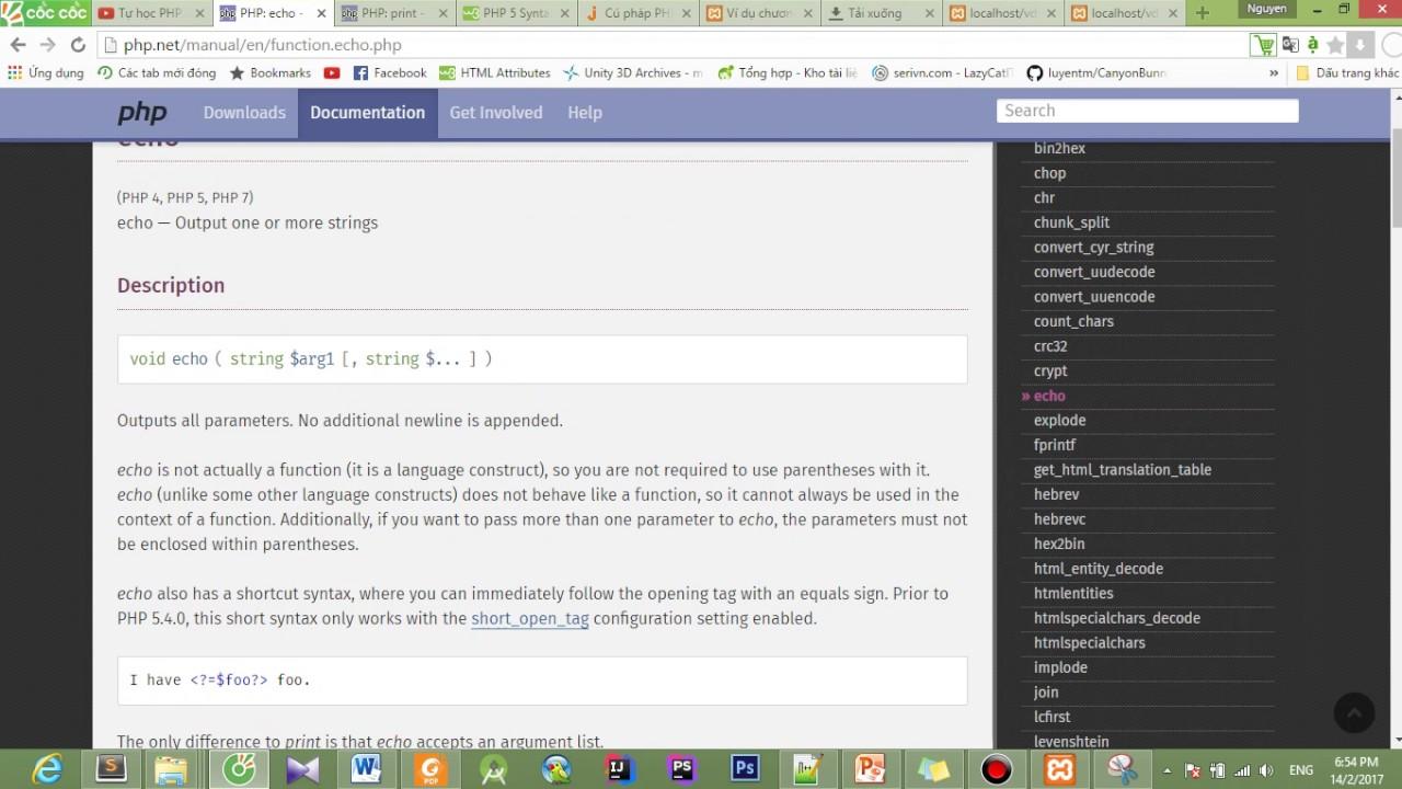 [Tự học PHP Cơ bản] Bài 2: Cú pháp trong PHP