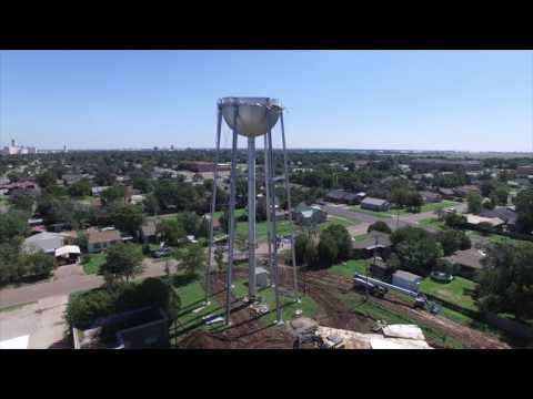 Plainview Texas water tower demolition