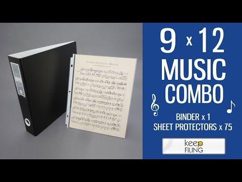 9x12 Easy Combo - Music Binder | Keefiling