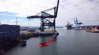 Container Ship Docking at the Port of Tacoma - Time Lapse