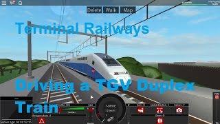 ROBLOX Terminal Railways Driving a TGV Duplex