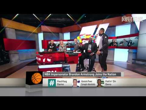 NBA Impersonator Brandon Armstrong Drived electric scooter join TV Show