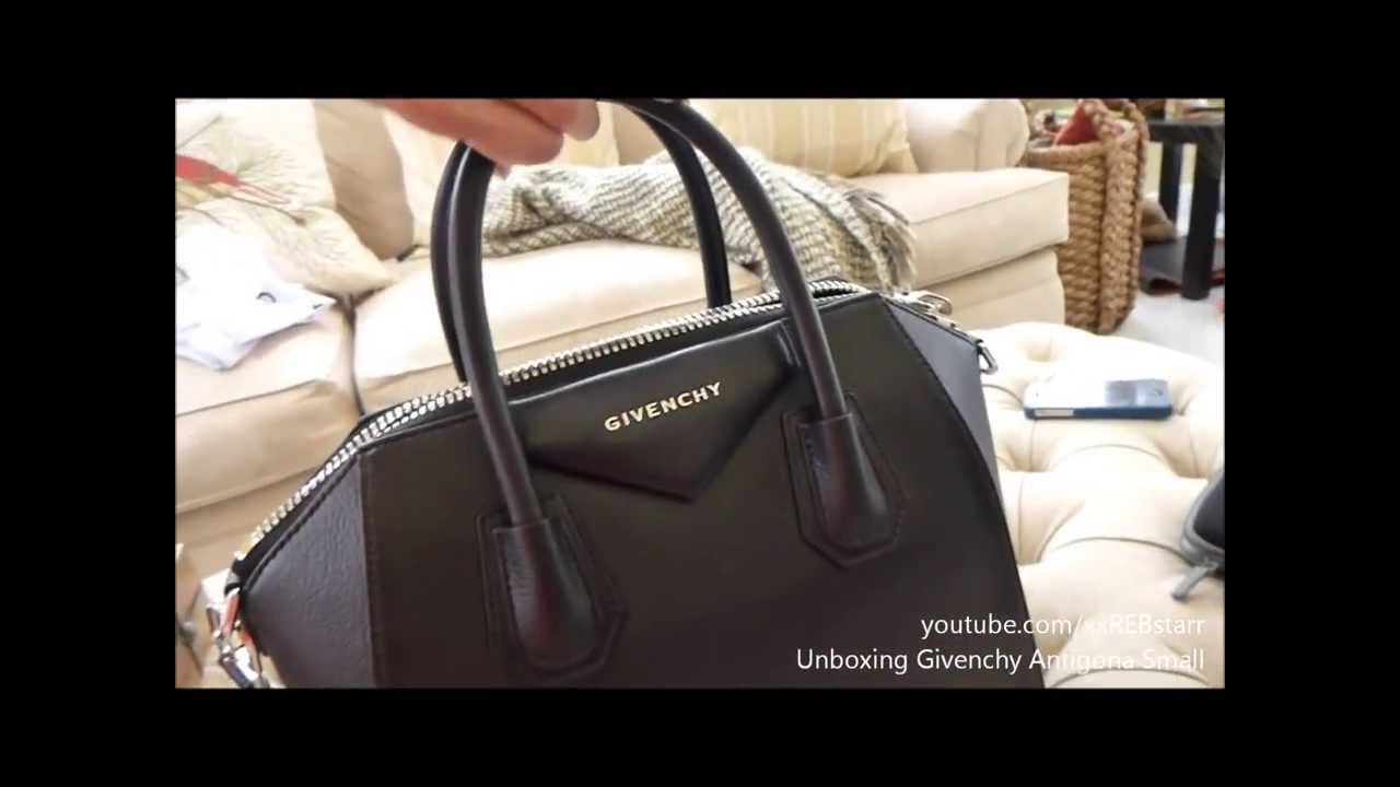 68a046147b1c0 Unboxing Givenchy Antigona Small Sugar Goatskin Satchel Bag - YouTube