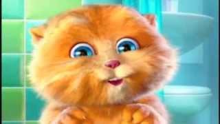 Смешной забавный говорящий кот котик Рыжик рассказывает стих