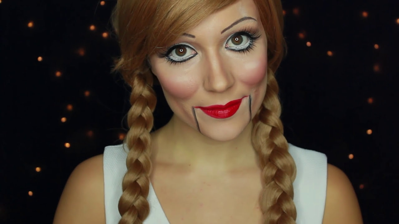 Maquillage halloween poup e d moniaque poup e de ventriloque youtube - Maquillage poupee halloween ...