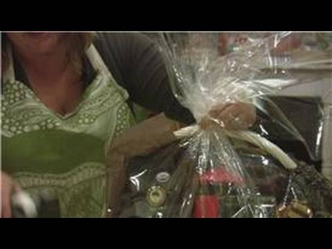 Gift Baskets : How to Wrap a Gift Basket