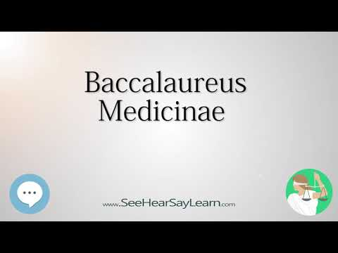 Baccalaureus Medicinae (Legal Latin Terminology & Definitions) 🤸‍♀️📜🧠👩‍🎓👍🔊