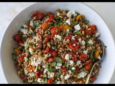 Slow Roasted Tomato Farro Salad