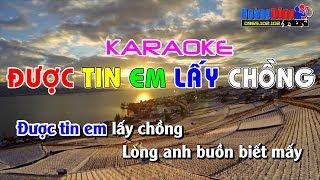 Được Tin Em Lấy Chồng Karaoke Nhạc Sống