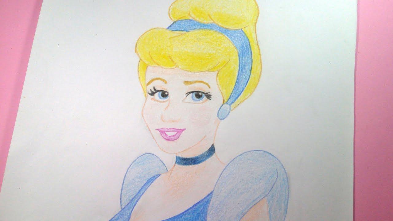 Como dibujar/pintar a Cenicienta (Cinderella) - Disney - Speed - YouTube