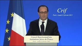 """François Hollande utilise l'expression """"Français de souche"""" au dîner du Crif"""