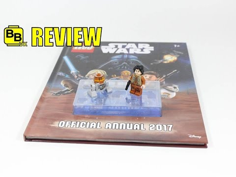LEGO STAR WARS OFFICIAL 2017 ANNUAL BOOK EZRA & CHOPPER MINIFIGURE REVIEW