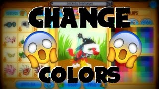 ANIMAL JAM: HOW TO CHANGE THE COLORS OF YOUR ITEMS!