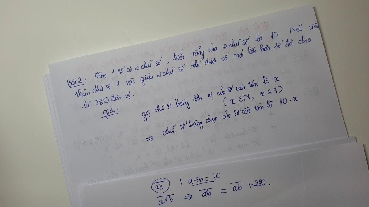 Giải bài toán bằng cách lập phương trình – Dạng 1 : Toán quan hệ giữa các số