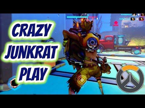 Overwatch   Crazy Junkrat Play