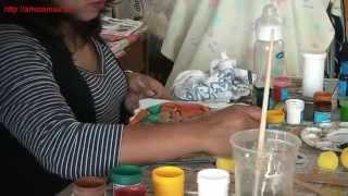 Cursos y Técnicas de Patina en Agua sobre Yeso