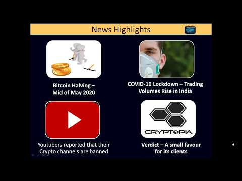 Cryptocurrency News In Tamil – Bitcoin Halving, COVID-19 impact on exchanges and Cryptopia Verdict