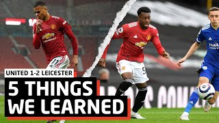 NO ONE CARES!   5 Things We Learned vs Leicester City   Man United 1-2 Foxes