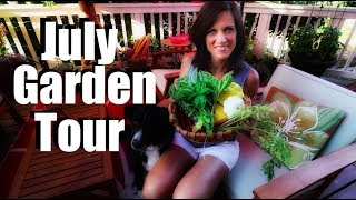July Garden Tour & Tips: Planting Late Summer Veggies, Strawberry, Squash  Harvest & More