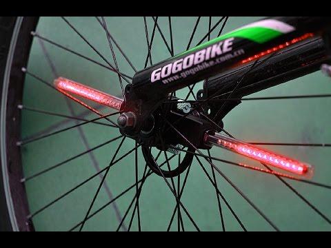 298442c7e Luces Led Programables Para Bicicleta Control Remoto - YouTube