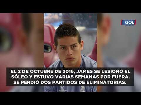 ¡La mala suerte del '10'! Las lesiones de James Rodríguez en los últimos 4 años| Gol Caracol