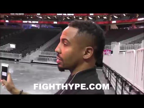 (EXCLUSIVE) ANDRE WARD CHECKS OUT NEW T-MOBILE ARENA; PUMPED TO CREATE LEGACY THERE VS. KOVALEV