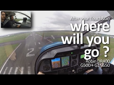 Robin DR400 Garmin G500/GTN650 (Live VFR Radio communication English practise)