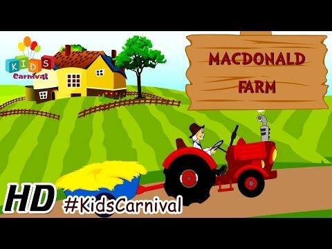 Old Mac Donald - Children English Nursery Rhyme with Lyrics (Subtitles) and Action