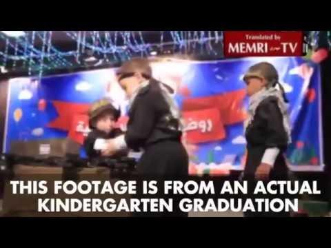 WATCH: A kindergarten graduation in Gaza where children are taught to kill.