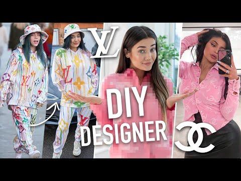 I DIY'D DESIGNER CELEBRITY OUTFITS... BILLIE EILISH WILL BE SHOOK! - YouTube