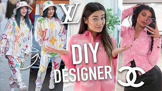 I DIY'D DESIGNER CELEBRITY OUTFITS... BILLIE EILISH WILL BE SHOOK!