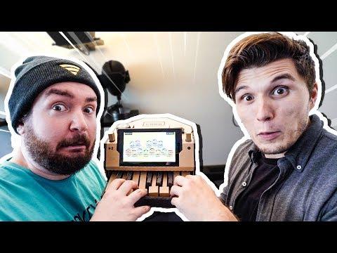 Team Paluffel macht MUSIK mit Nintendo PAPPEKLAVIER!