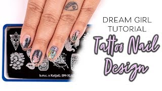 Nail Tutorial - How To Nail Stamp Tattoo Designs