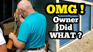 OMG! THE FACILITY OWNER DID WHAT? I Bought An Abandoned Storage Unit At Auction