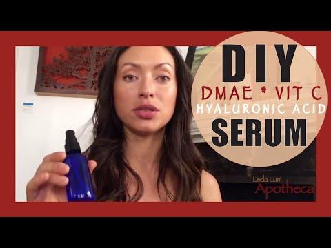 DIY hyaluronic acid DMAE  Vit C serum