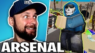 PLAYING ARSENAL in ROBLOX WITH PRO PLAYER SIMASGAMER